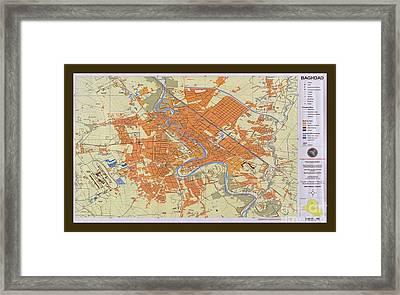 Map Of Baghdad Iraq Framed Print by Pd