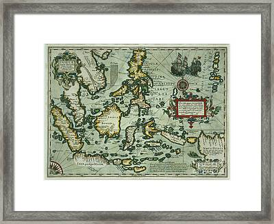 Map Of The East Indies Framed Print by Dutch School