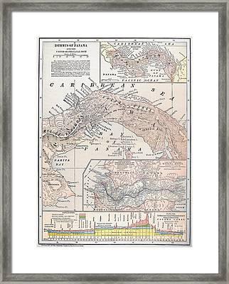 Map: Panama, 1907 Framed Print by Granger