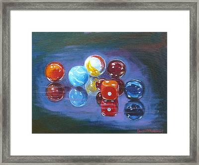 Marbels Framed Print by Tomas OMaoldomhnaigh