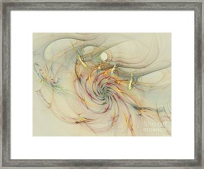 Marble Spiral Colors Framed Print by Deborah Benoit
