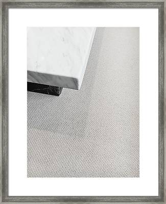 Marble Table Framed Print by Tom Gowanlock