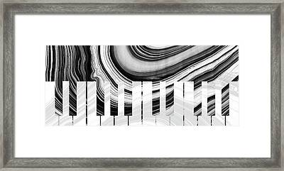 Marbled Music Art - Piano Keys - Sharon Cummings Framed Print by Sharon Cummings