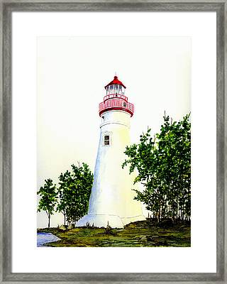 Marblehead Lighthouse Framed Print by Michael Vigliotti