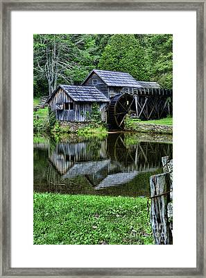 Marby Mill Reflection Framed Print by Paul Ward
