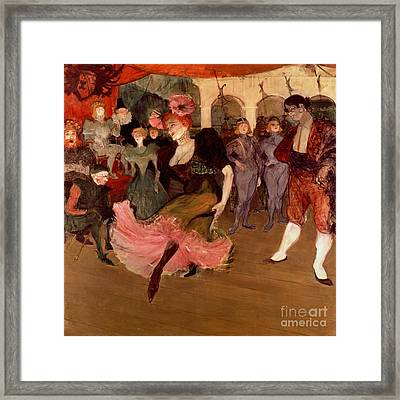 Marcelle Lender Dancing The Bolero In Chilperic Framed Print by Henri de Toulouse Lautrec