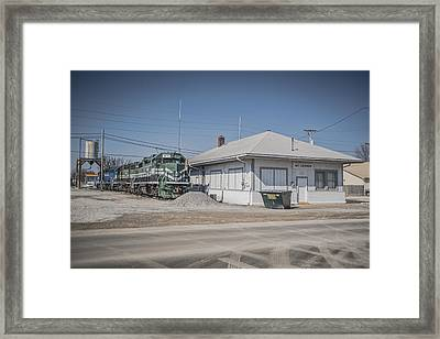 March 11. 2015 - A Little Evansville And Western Action Framed Print by Jim Pearson