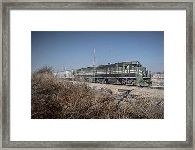 March 11. 2015 - Evansville And Western 3838 Framed Print by Jim Pearson