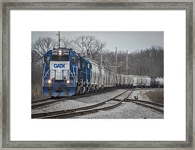 March 18. 2015 - Evansville Western Railway 1 Framed Print by Jim Pearson