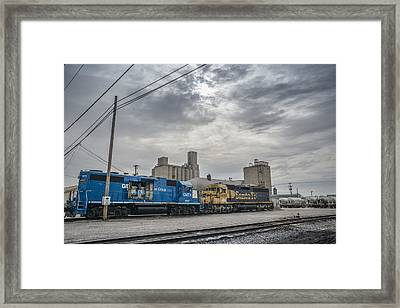 March 18. 2015 - Evansville Western Railway Framed Print by Jim Pearson