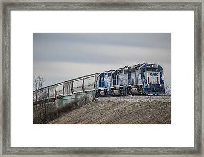 March 18. 2015 - Evansville Western Railway Local Mvl1 Framed Print by Jim Pearson