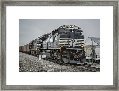 March 18. 2015 - Norfolk Southern Loaded Coal Train Ndn-1 Framed Print by Jim Pearson