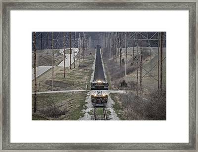 March 18. 2015 - Norfolk Southern Ndn1 Framed Print by Jim Pearson