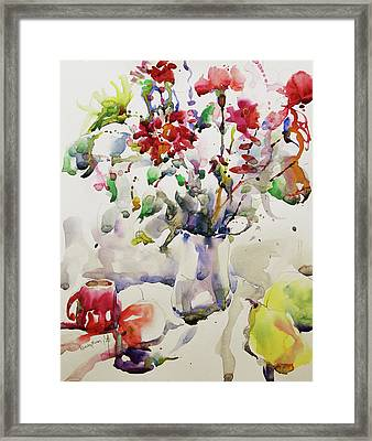 March Greeting Framed Print by Becky Kim