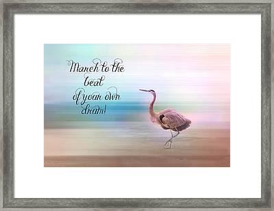 March Framed Print by Lynn Bauer