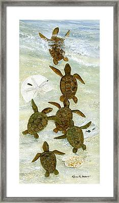 March To The Sea Framed Print by Kevin Brant