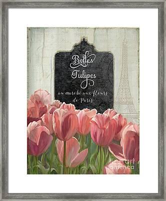 Marche Aux Fleurs 2 - Belle Tulipes Framed Print by Audrey Jeanne Roberts