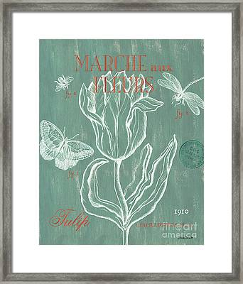 Marche Aux Fleurs Framed Print by Debbie DeWitt