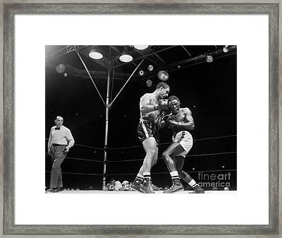 Marciano & Charles, 1954 Framed Print by Granger