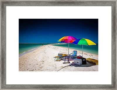 Marco Island Crescent Beach Framed Print by Terry Finegan