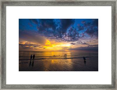 Marco Island Sunset Framed Print by Terry Finegan