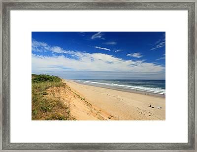 Marconi Beach Cape Cod National Seashore Framed Print by John Burk