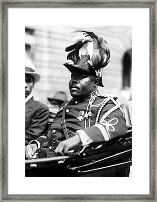 Marcus Garvey, The Negro Moses, Rides Framed Print by Everett