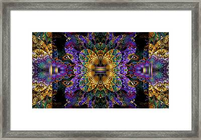 Mardi Gras Split Crop Framed Print by Peggi Wolfe