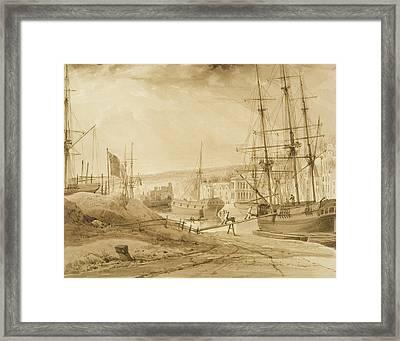Mardyke Seen From Near Hilhouse's Dock Framed Print by Thomas Leeson the Elder Rowbotham