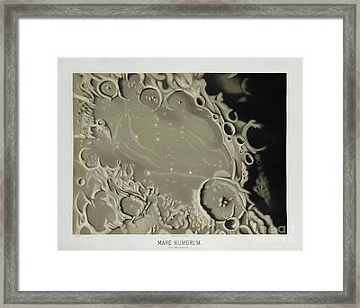 Mare Humorum, 1875 Illustration Study Of The Moon Framed Print by Tina Lavoie