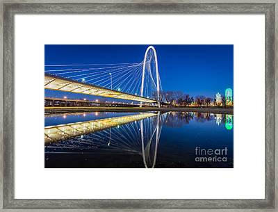 Margaret Hunt Hill Bridge Reflection Framed Print by Inge Johnsson