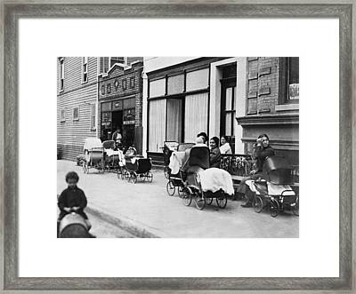 Margaret Sanger Clinic Framed Print by Underwood Archives