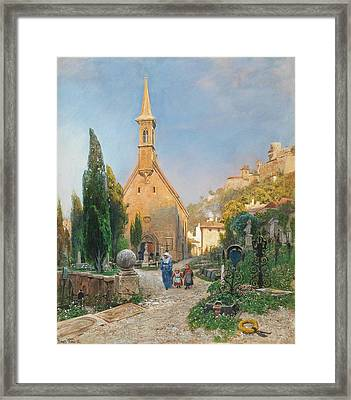 Margarets Chapel In St Peters Cemetery Framed Print by Hans Wilt