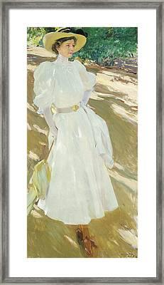 Maria At La Granja, 1907 Framed Print by Joaquin Sorolla y Bastida