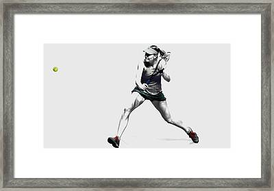 Maria Sharapova 3y Framed Print by Brian Reaves