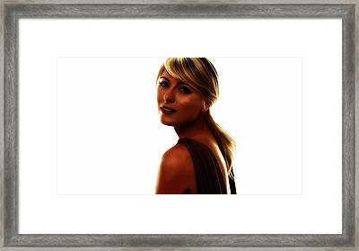 Maria Sharapova 5c Framed Print by Brian Reaves