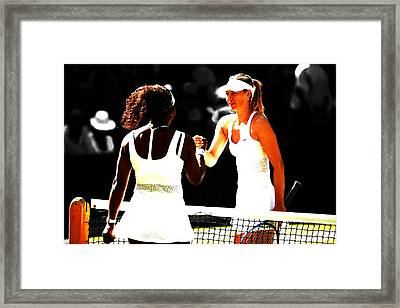 Maria Sharapova And Serena Williams Rivalry Framed Print by Brian Reaves