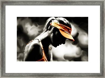 Maria Sharapova Deep Focus Framed Print by Brian Reaves