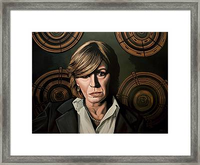 Marianne Faithfull Painting Framed Print by Paul Meijering