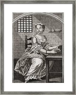 Marie Catherine Taperet 1728 - 1755 Framed Print by Vintage Design Pics