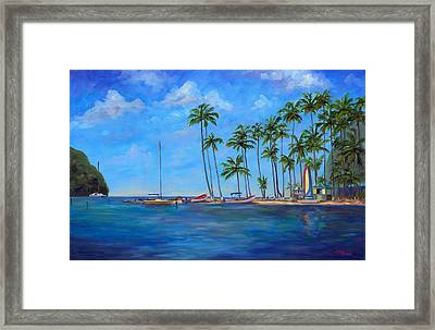 Marigot Bay St. Lucia Framed Print by Jeff Pittman