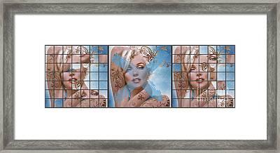 Marilyn 127 Tryp Framed Print by Theo Danella
