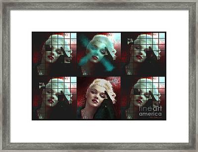 Marilyn 128 Wall Framed Print by Theo Danella