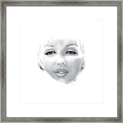 Marilyn Framed Print by Brian Gibbs