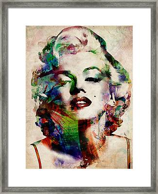 Marilyn Framed Print by Michael Tompsett