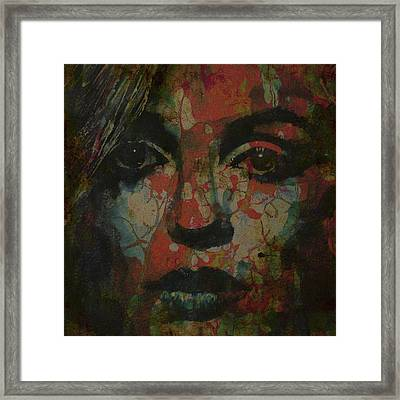 Marilyn Monroe @ I Need You Framed Print by Paul Lovering