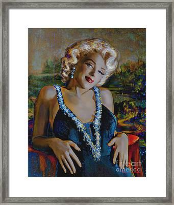 Marilyn Monroe 126 Monalisa Framed Print by Theo Danella