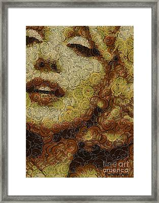 Marilyn Monroe -bottle Caps Framed Print by Dragica Micki Fortuna