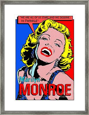 Marilyn Monroe Framed Print by John Reilly