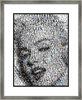Marilyn Monroe Mosaic Framed Print by Paul Van Scott